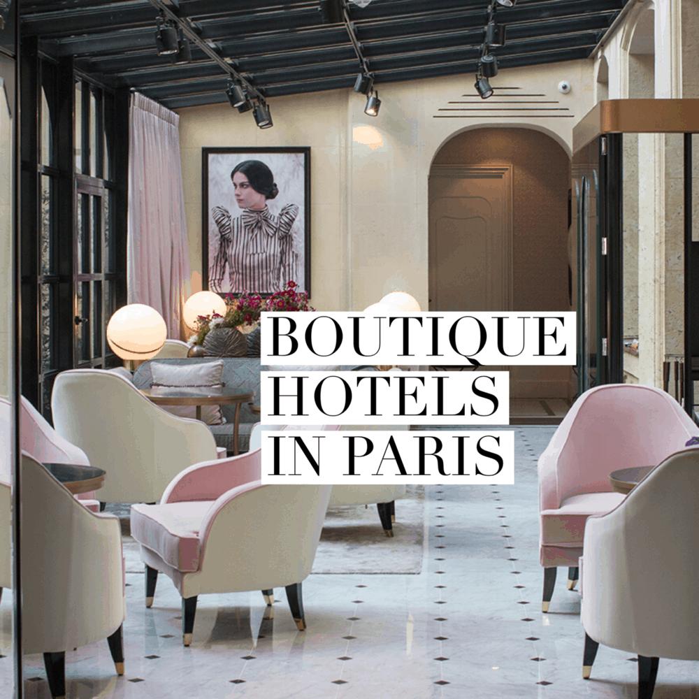 10 Boutique Hotels in Paris