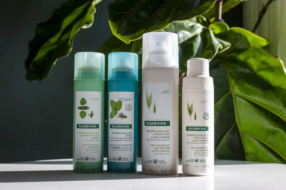 four products of Klorane Dry Shampoo
