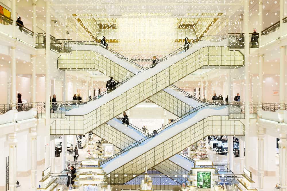 Paris: Christmas Displays at the Department Stores