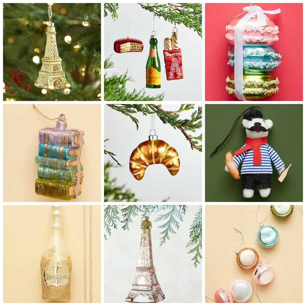 Paris Inspired Ornaments for Your Holiday Tree