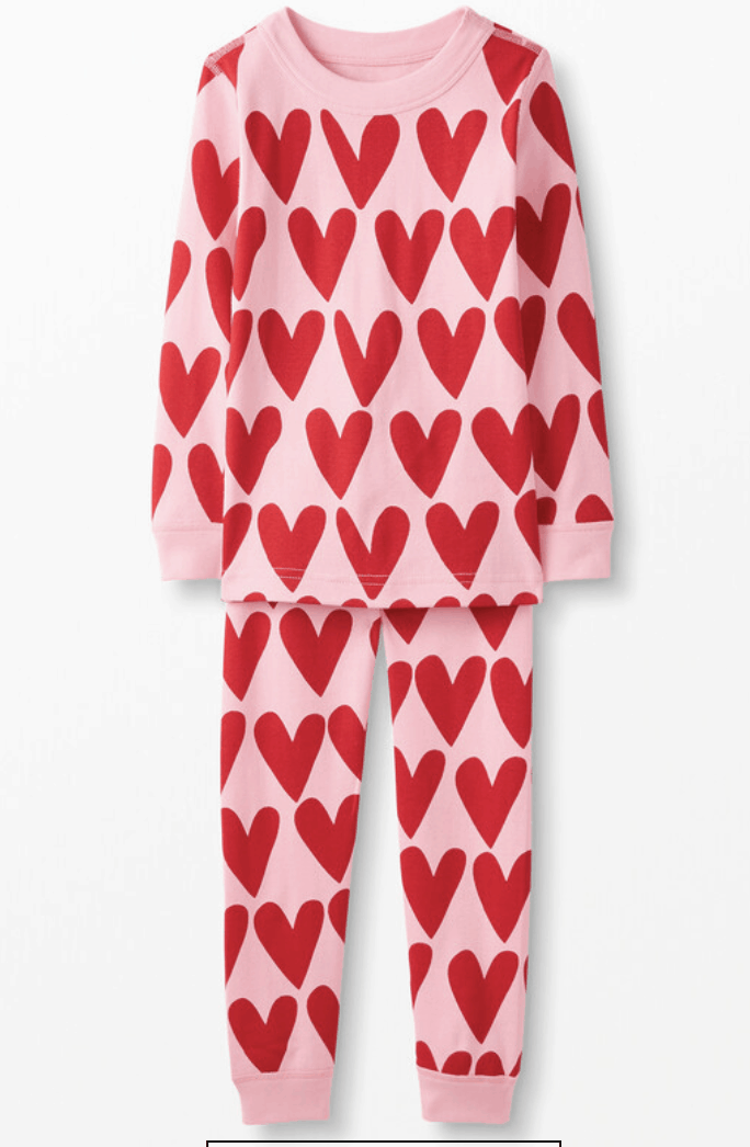 heart matching pajamas