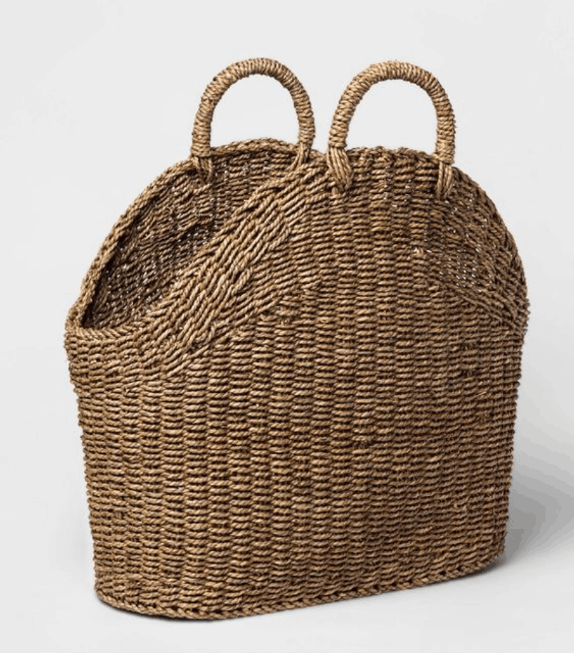french market basket with short straps