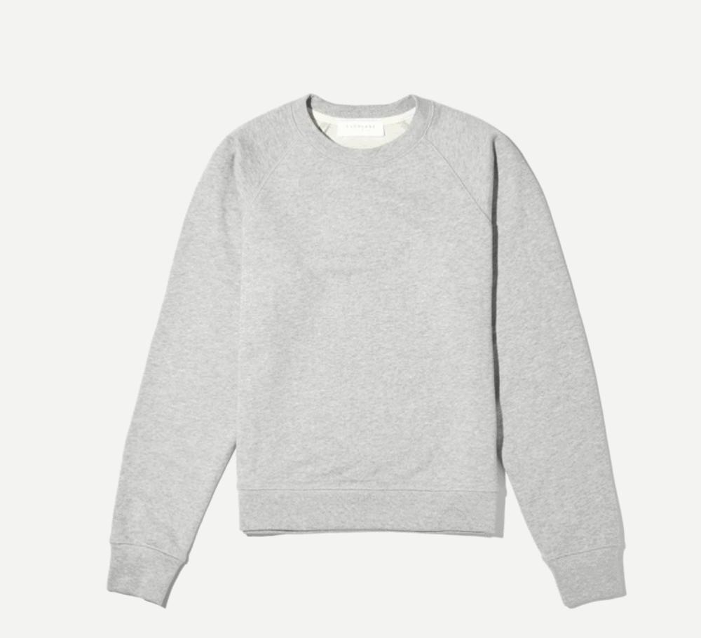 everlane terry french sweatshirt