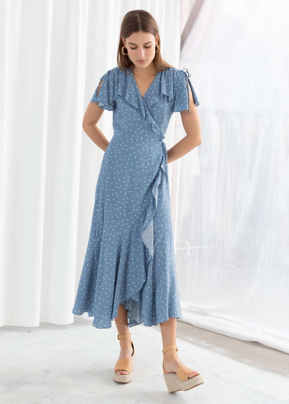 polka dot wrap dress and other stories