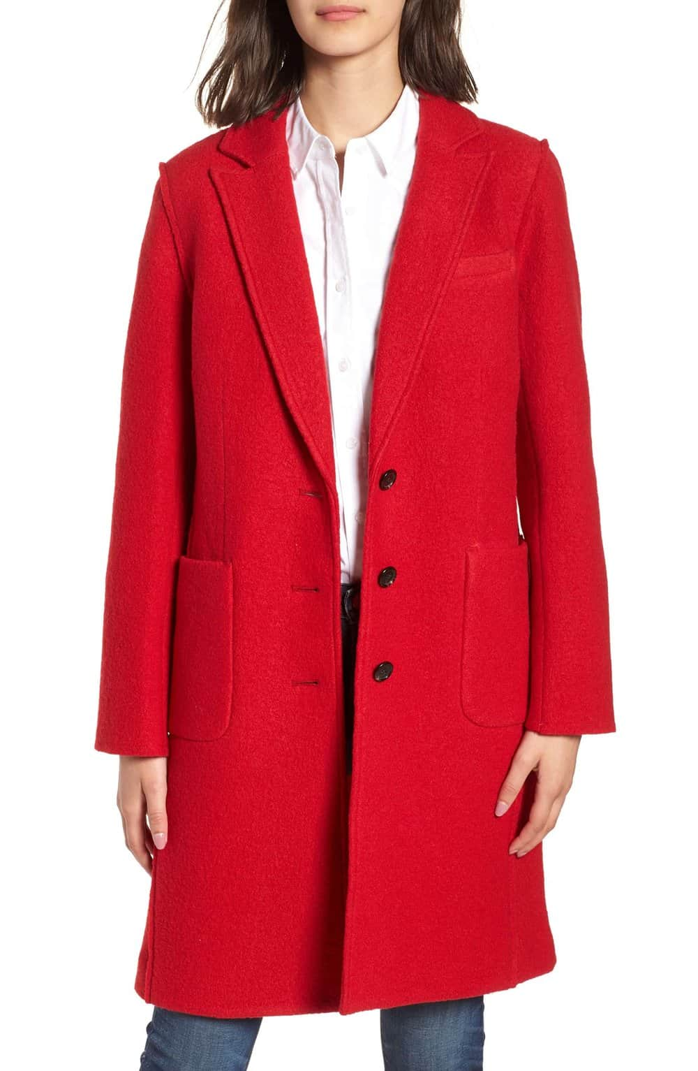red coat paris fall fashion finds