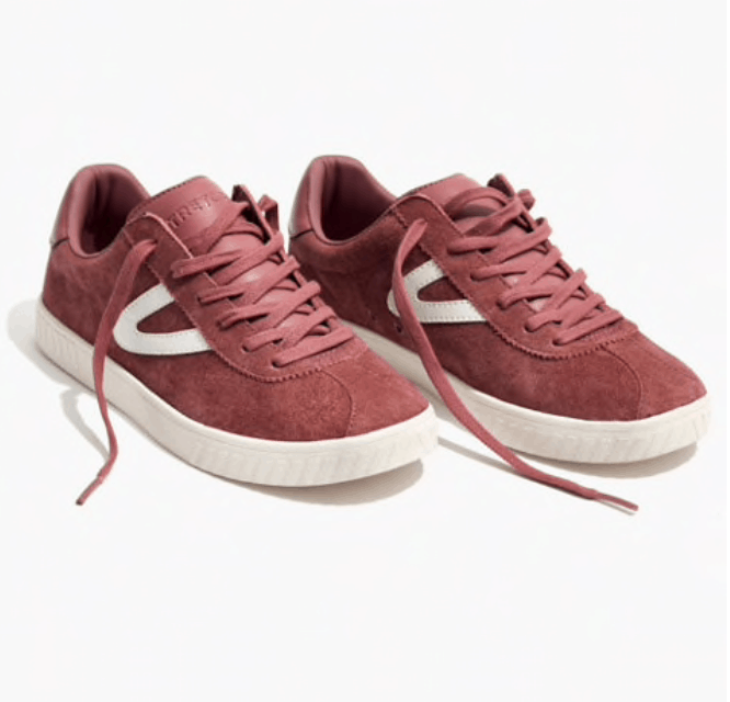 madewell pink sneakers walking shoes for Paris, France