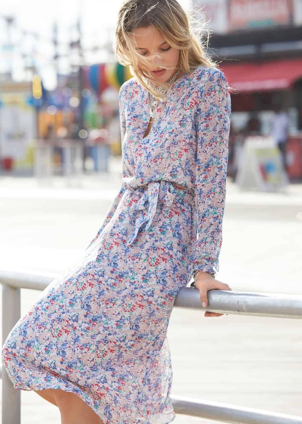 floral sezane victoire dress