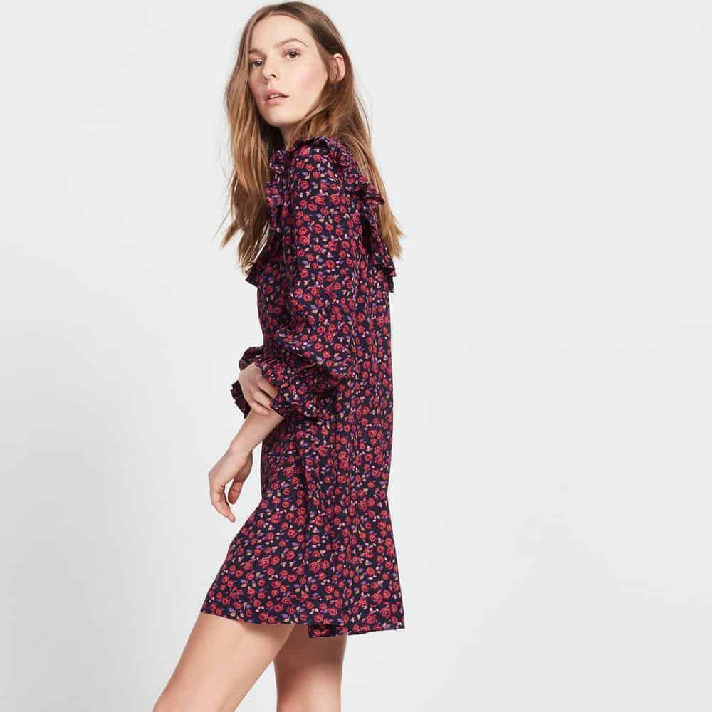 sandro ruffle dress