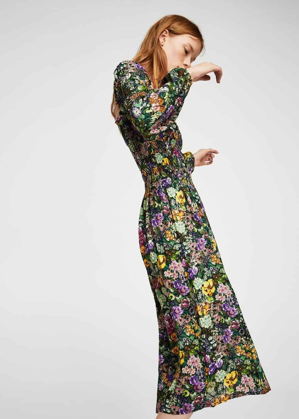 floral dress mango