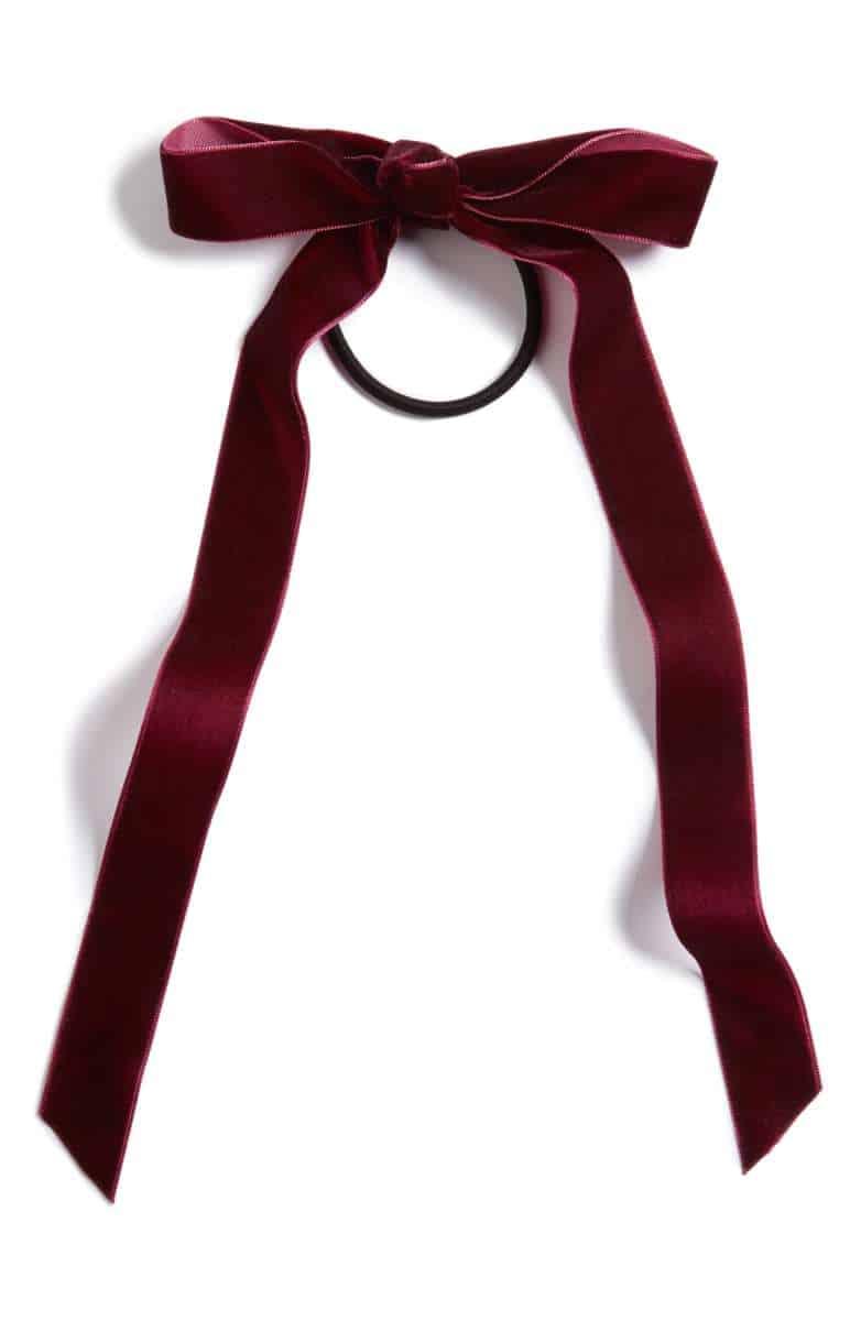 crush velvet bow