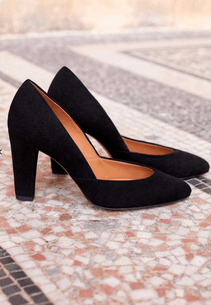 sezane black heels for fall