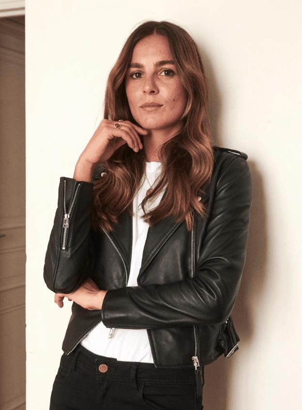 leather zig zag jacket sezane