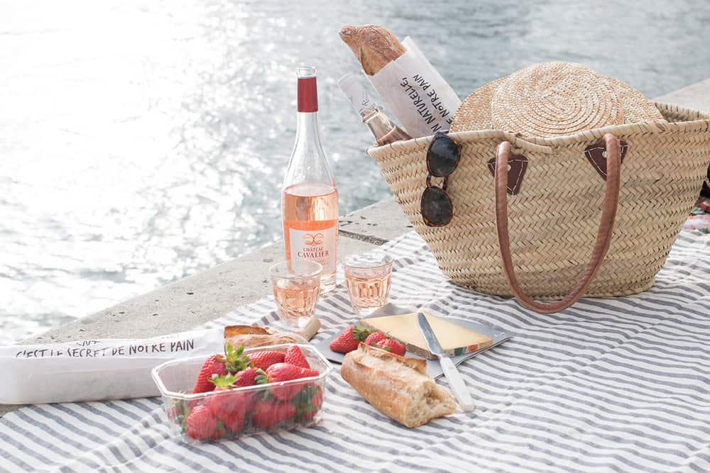 market basket in paris on the seine