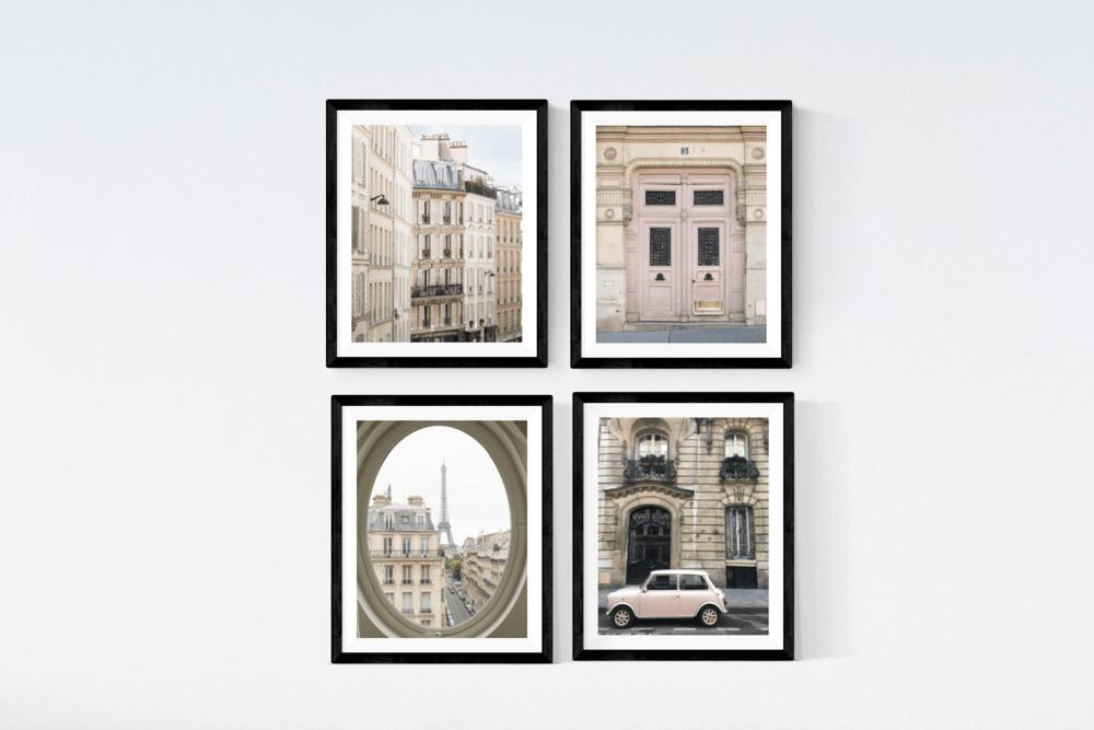 Paris Print Set of 4 rebecca plotnick