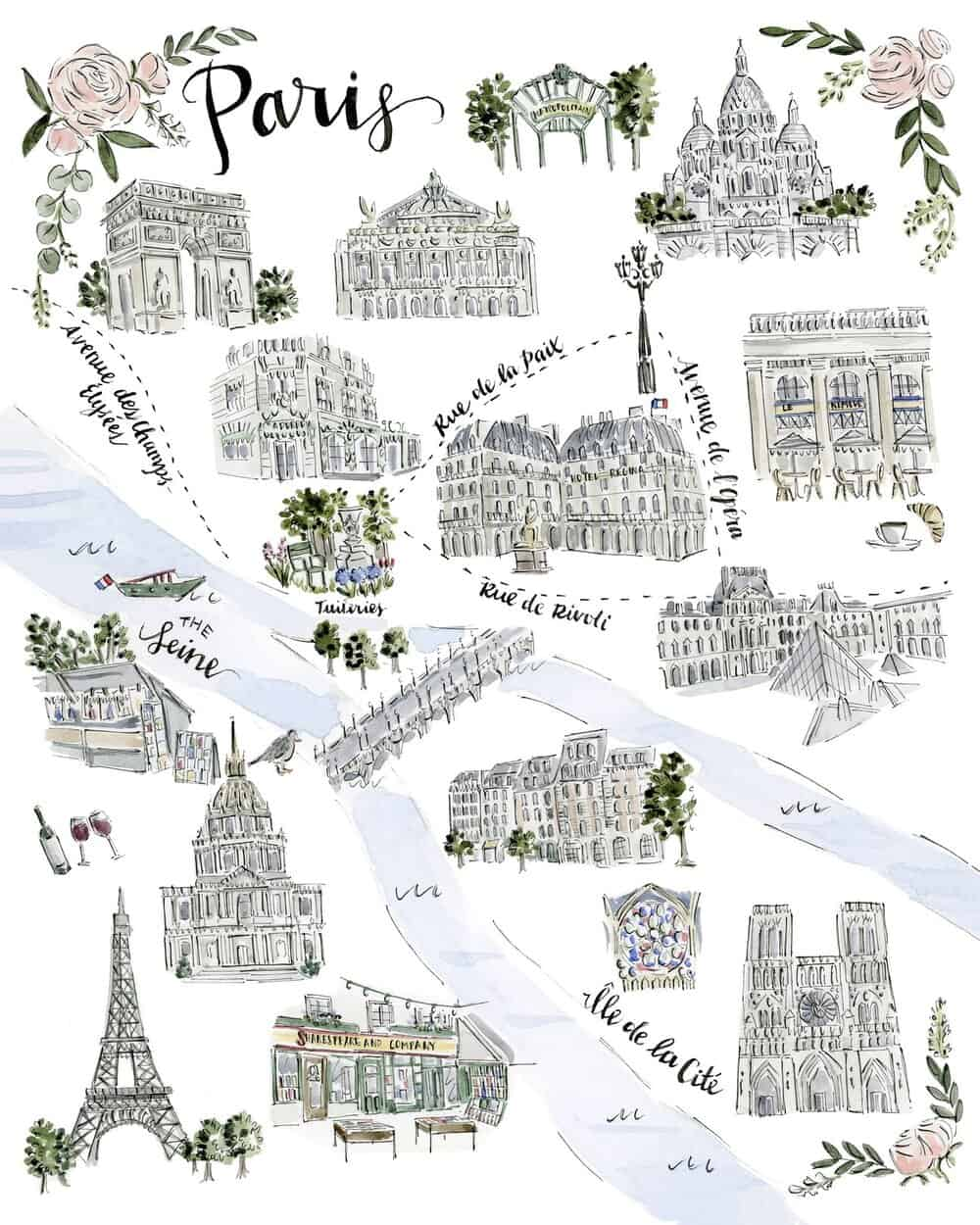 small business gift guide riley sheehey paris print