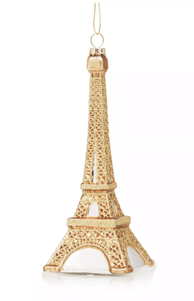 eiffel tower gold ornament