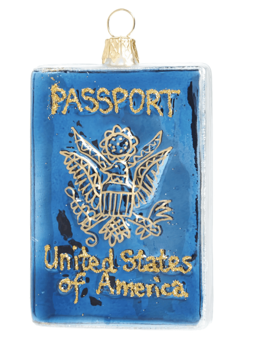 passport holiday ornaments 2020