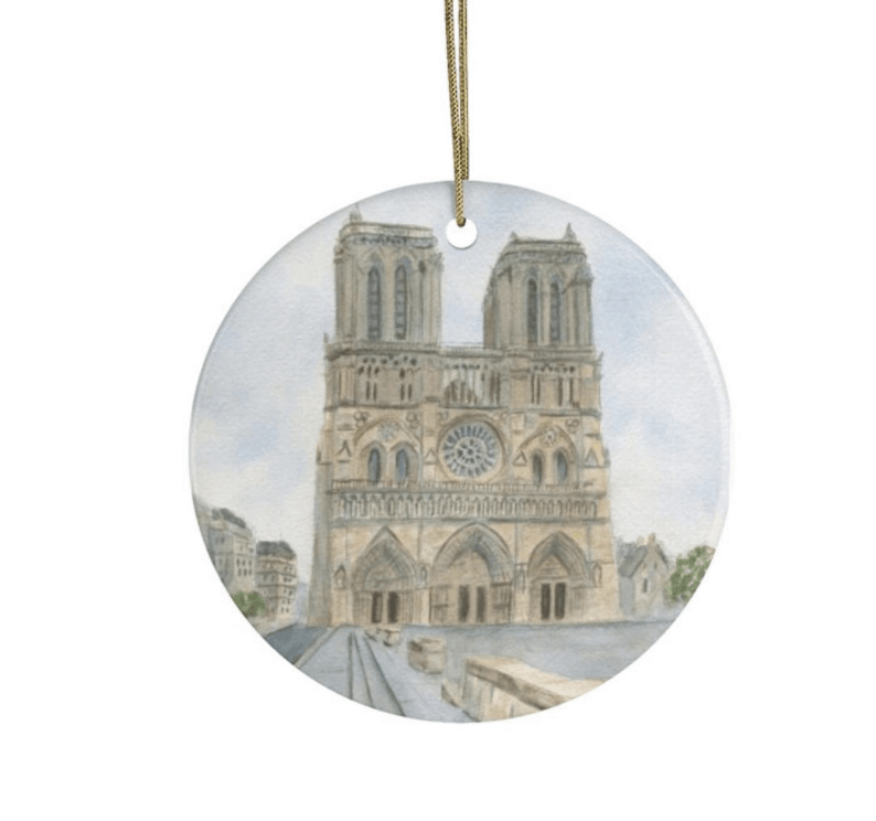 notre dame holiday ornament 2020