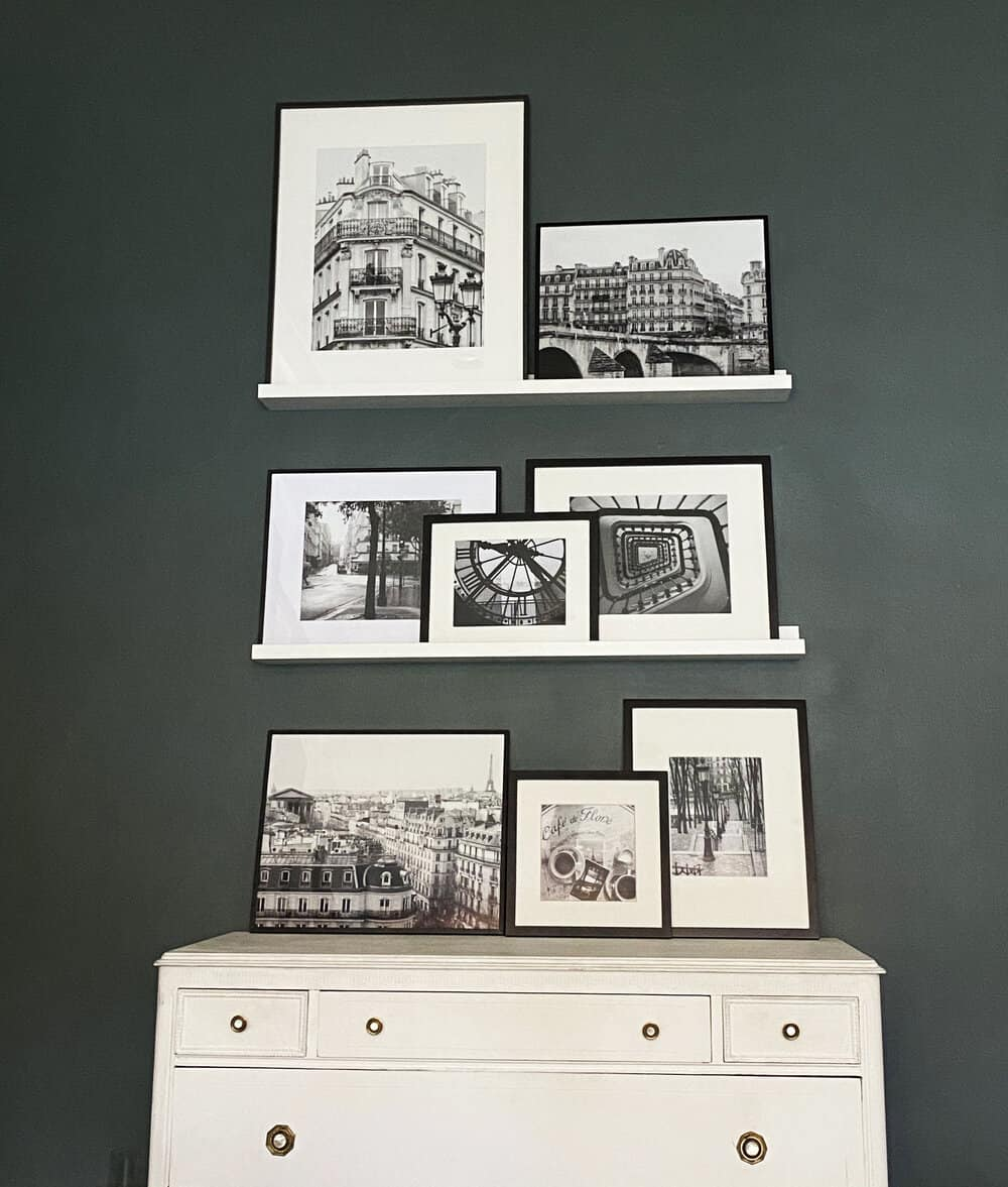 black and white paris gallery wall everyday parisian