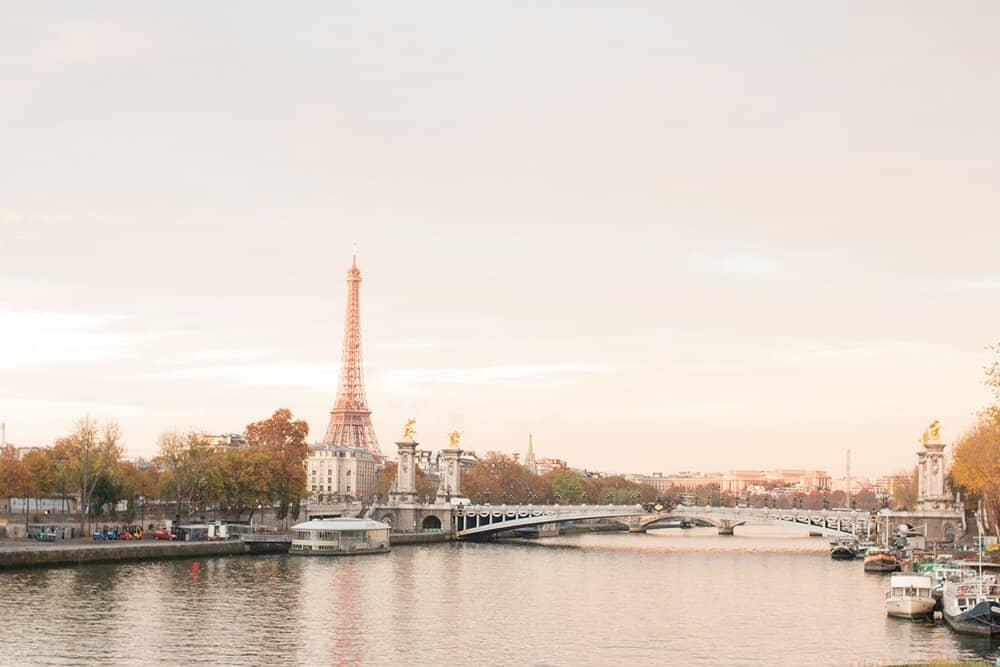 Shop Fall Sunrise on the Seine Print Here