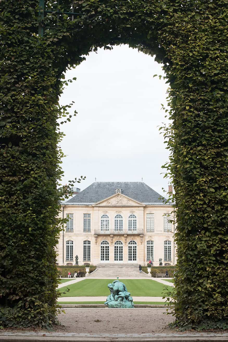 Shop The Gardens of Musée Rodin in the Fall Print Here