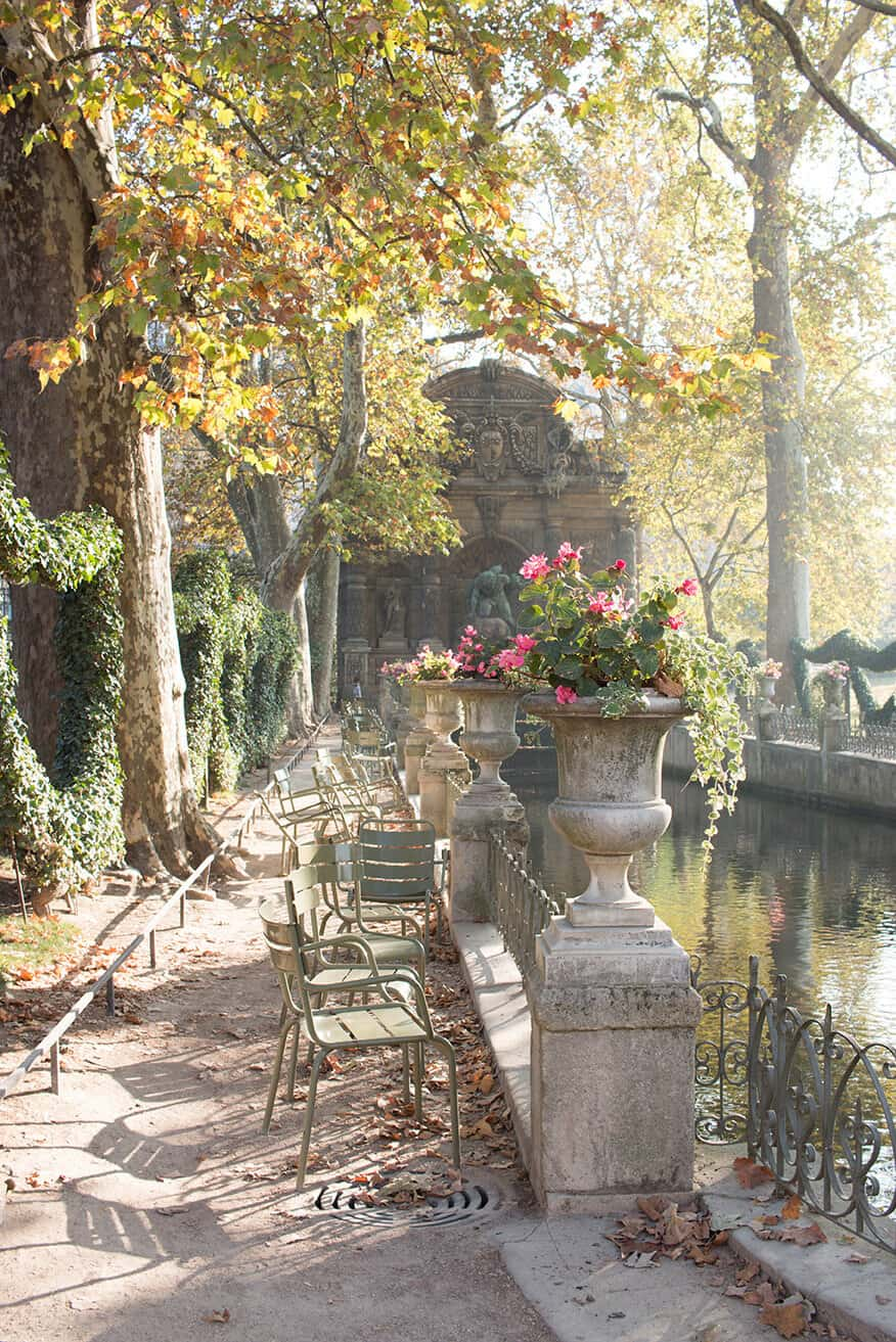 Shop Medici Fountain in Luxembourg Gardens Print Here