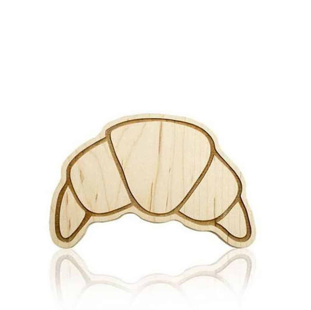 croissant wood teether etsy