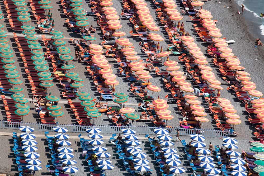 beach umbrellas in positano italy rebecca plotnick