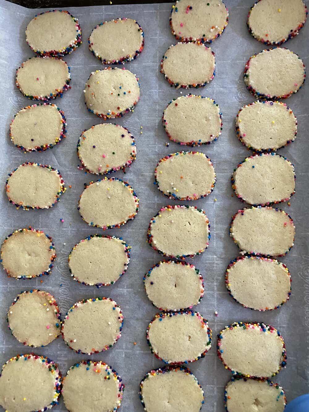 rainbow sprinkle cookies everyday parisian