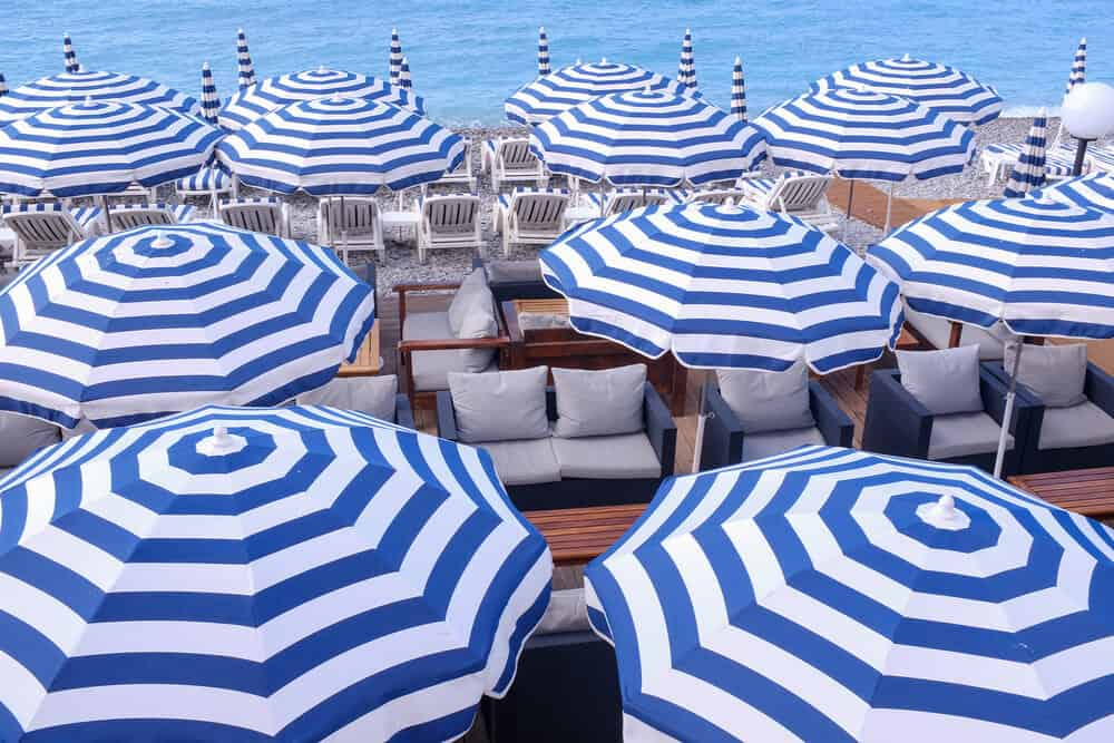 Shop Beach Umbrellas in Nice France Here