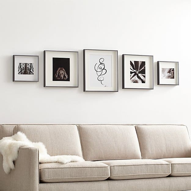 image via crate and barrel where to buy frames for your gallery wall