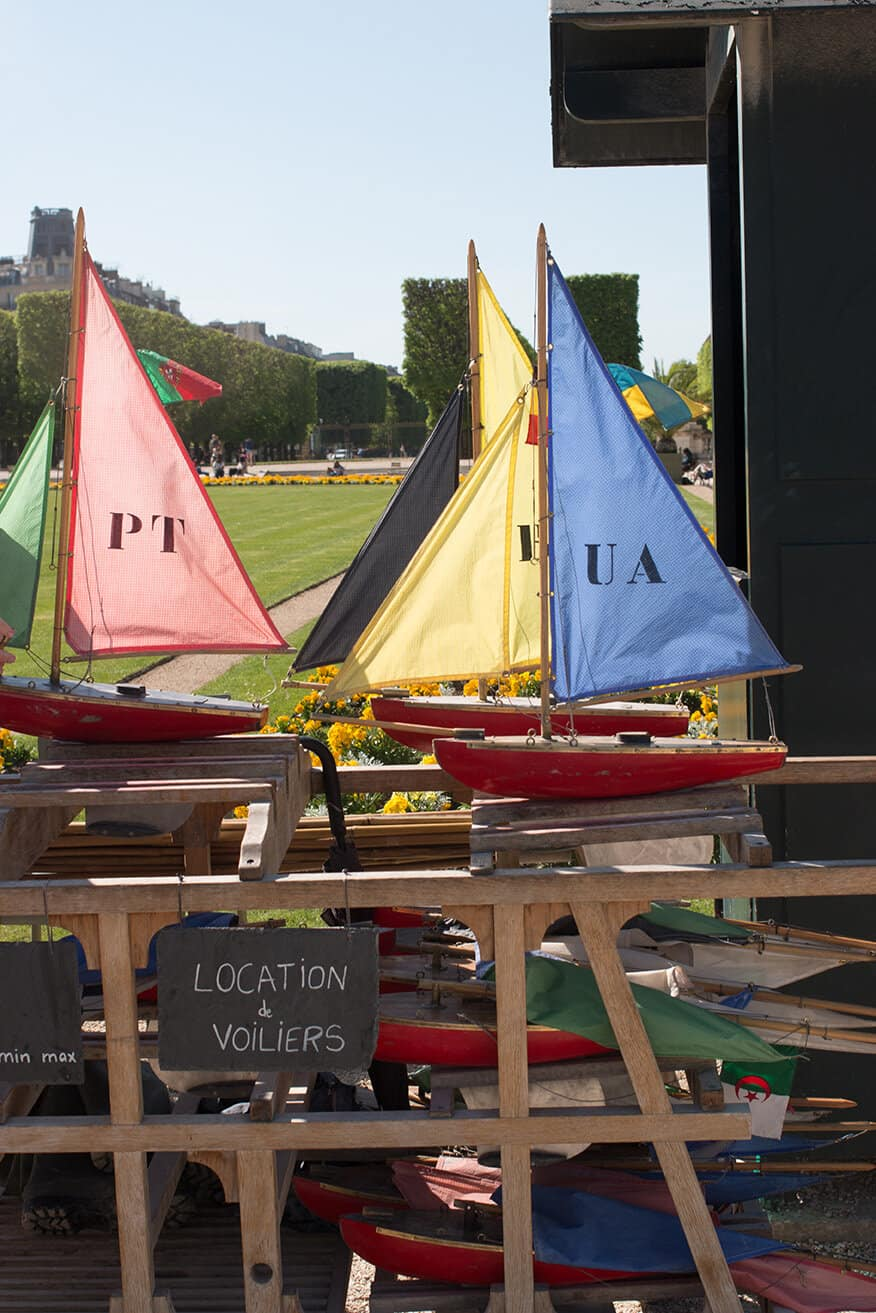Shop Boats in Luxembourg Gardens Print Here