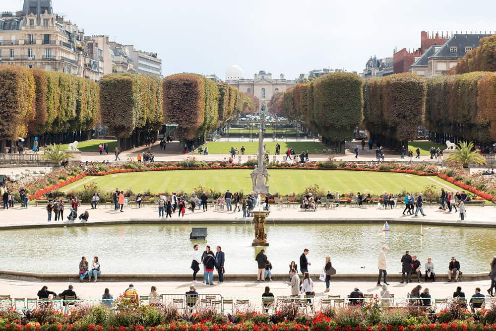 Shop Paris in the Fall in Luxembourg Gardens Print Here