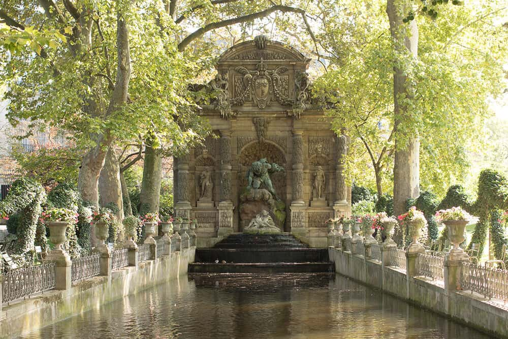 Shop Paris Fall in Luxembourg Gardens Print Here