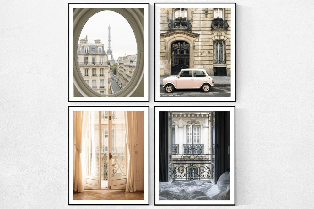 best selling Paris print set of 4 rebecca plotnick