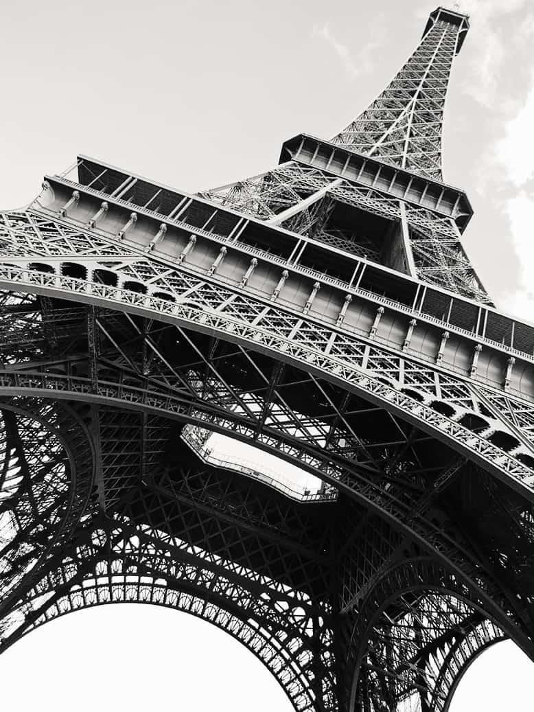 Shop Black and White Eiffel Tower Print Here