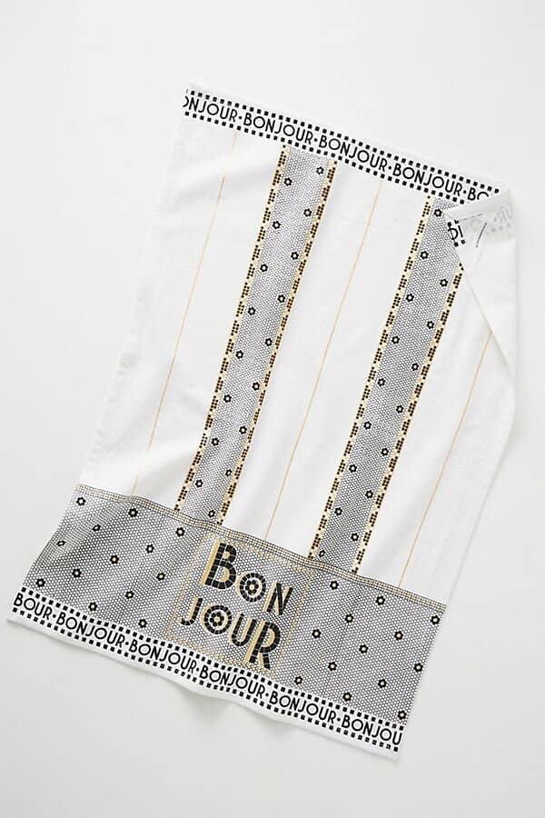 anthropologie bistro towel gift for the francophile