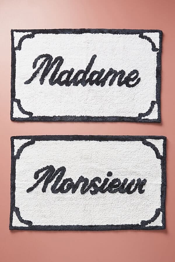 madame and monsieur bathmats