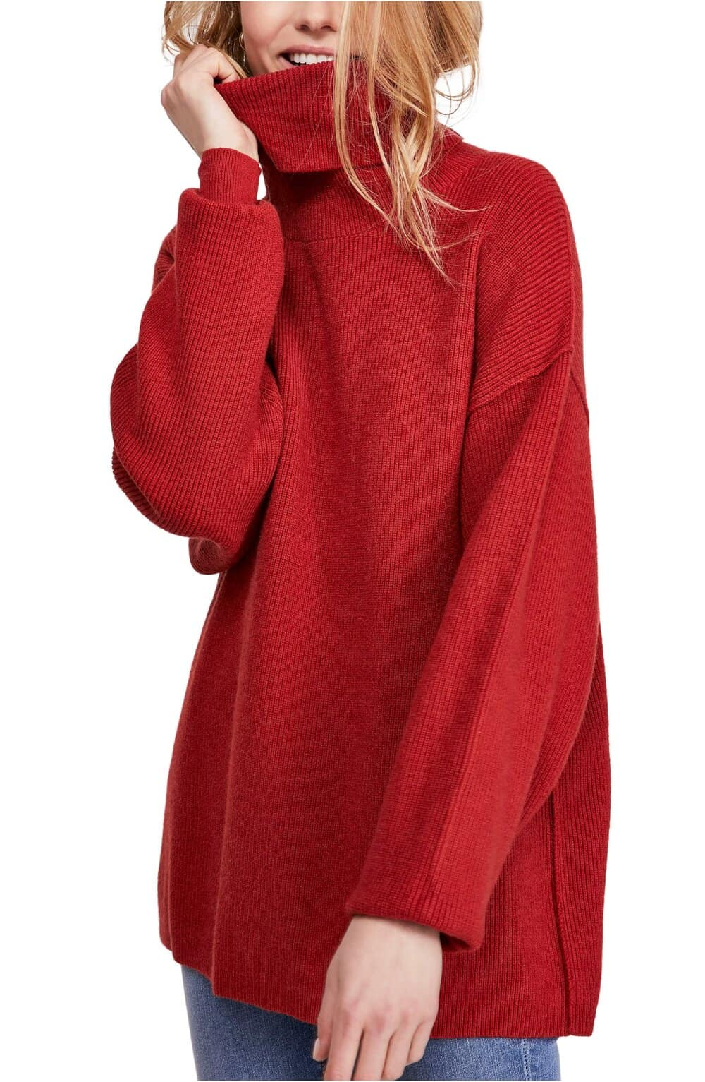 cafe sweater for Paris Free People Red Sweater