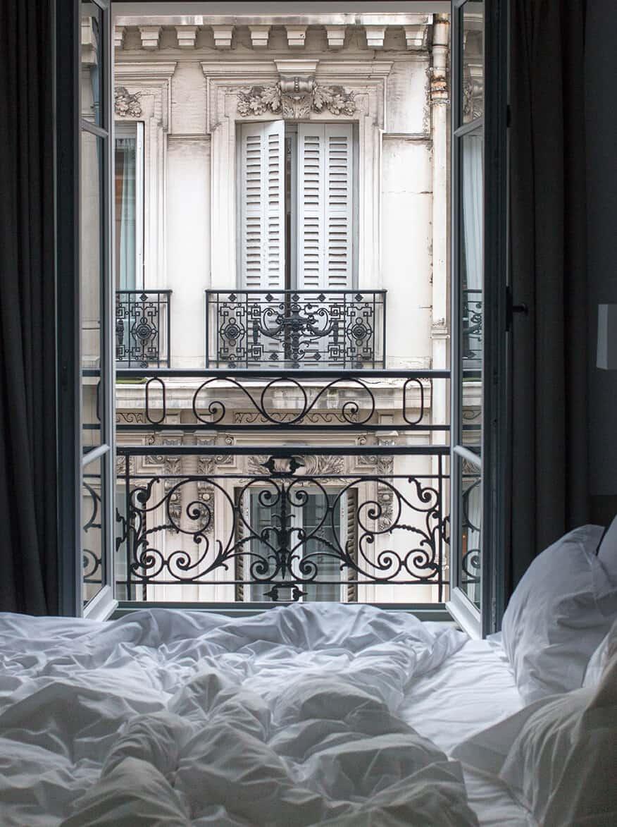 Shop Parisian Bedroom Scene Print Here