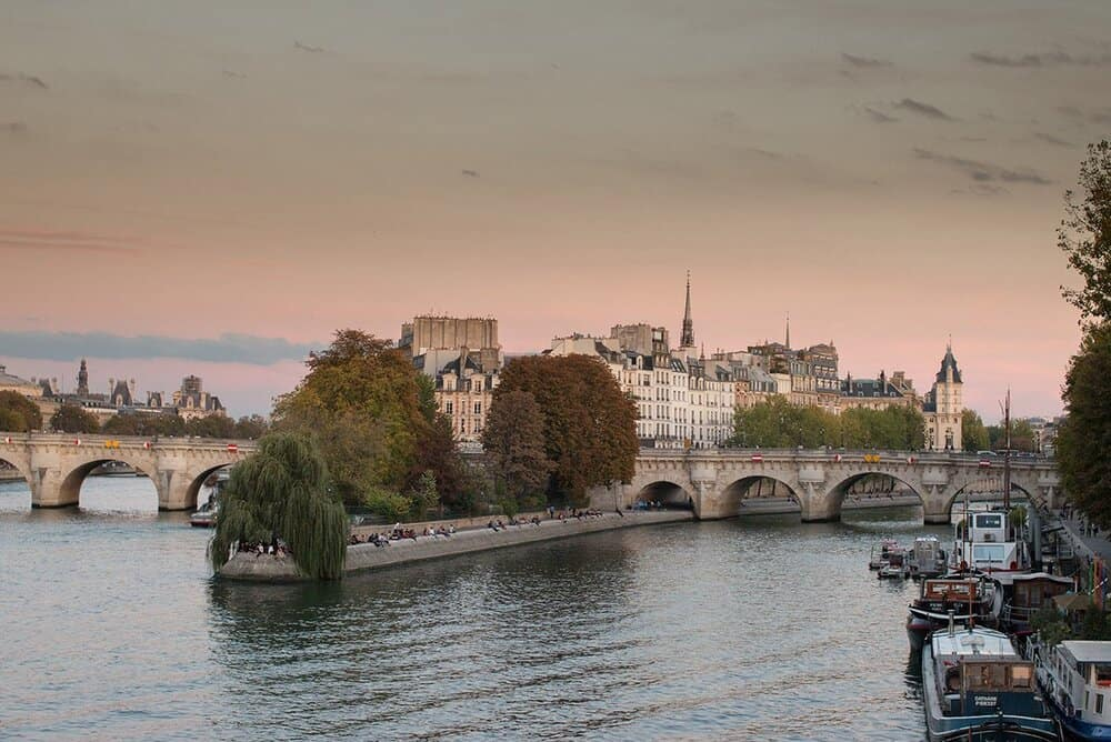 Shop Fall Sunset on the Seine Print Here