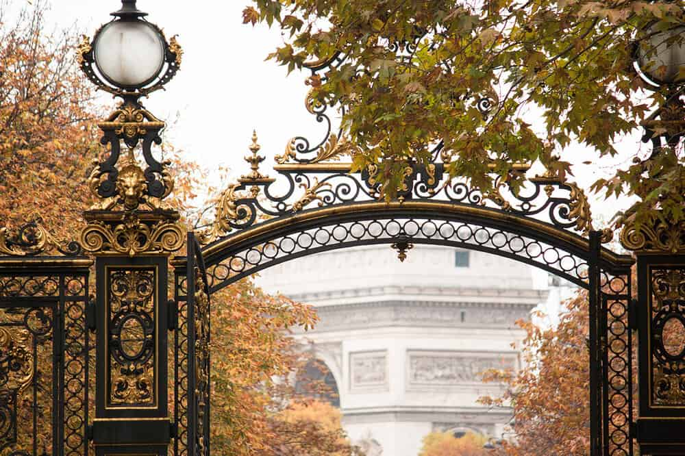 Shop Gates of Parc Monceau in the Fall Here