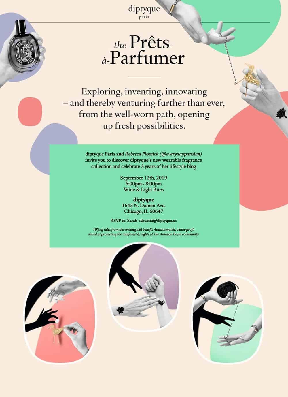 diptyque invite event chicago everyday parisian