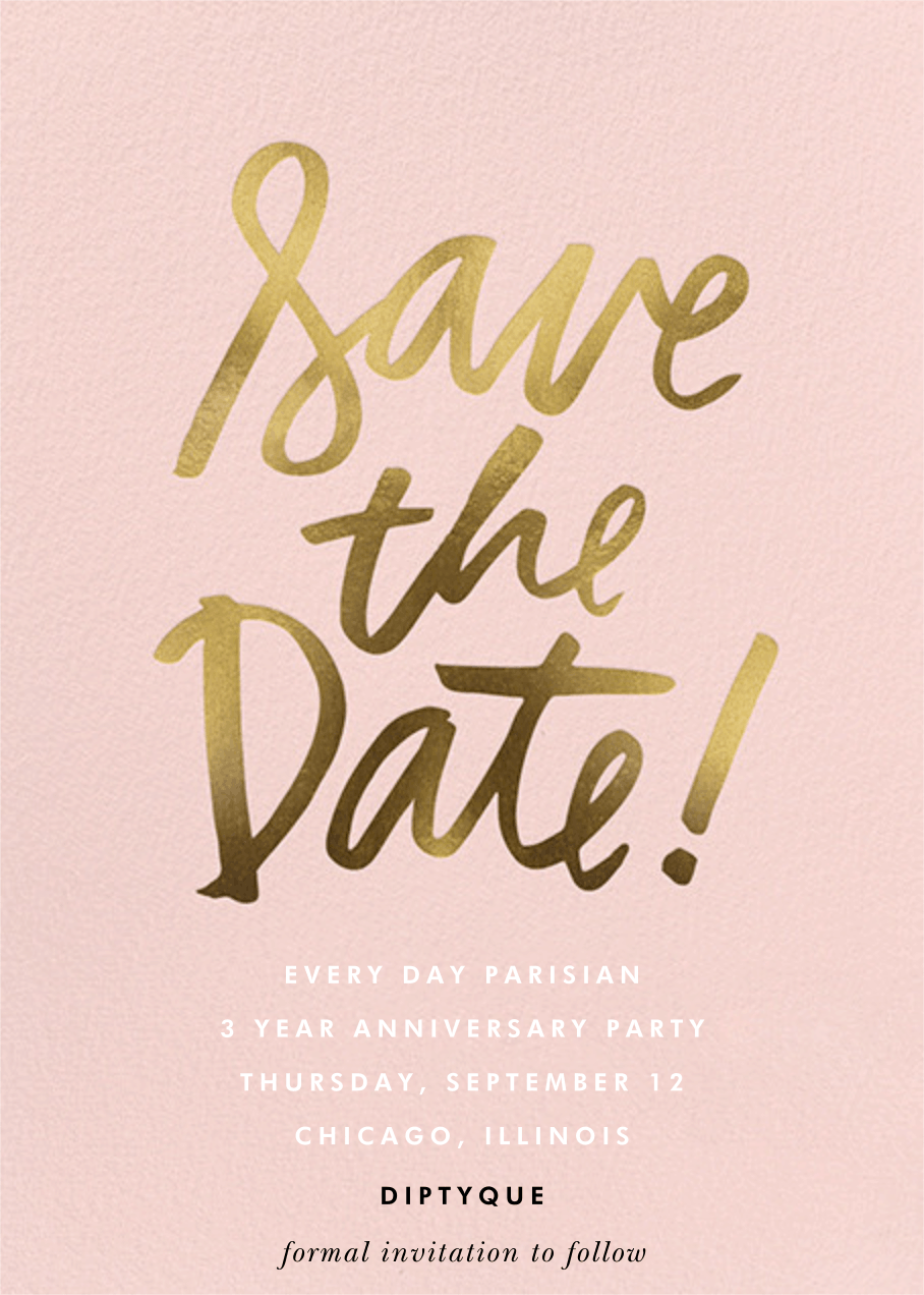 save the date anniversary party