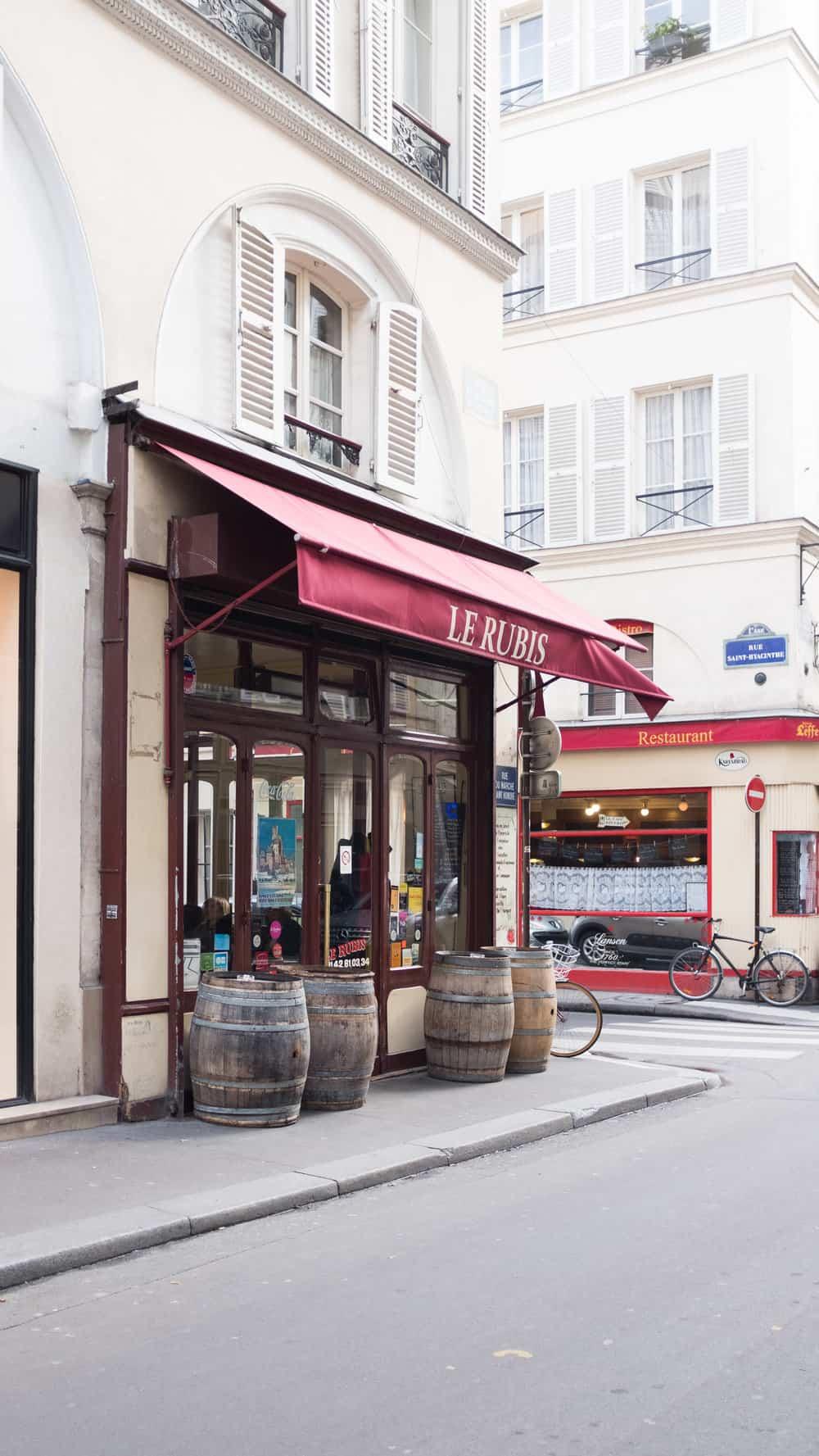 le rubis paris france wine bar