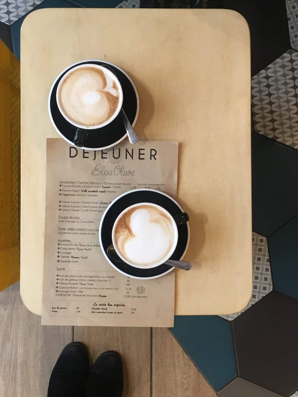 bleu olive coffee shop paris france