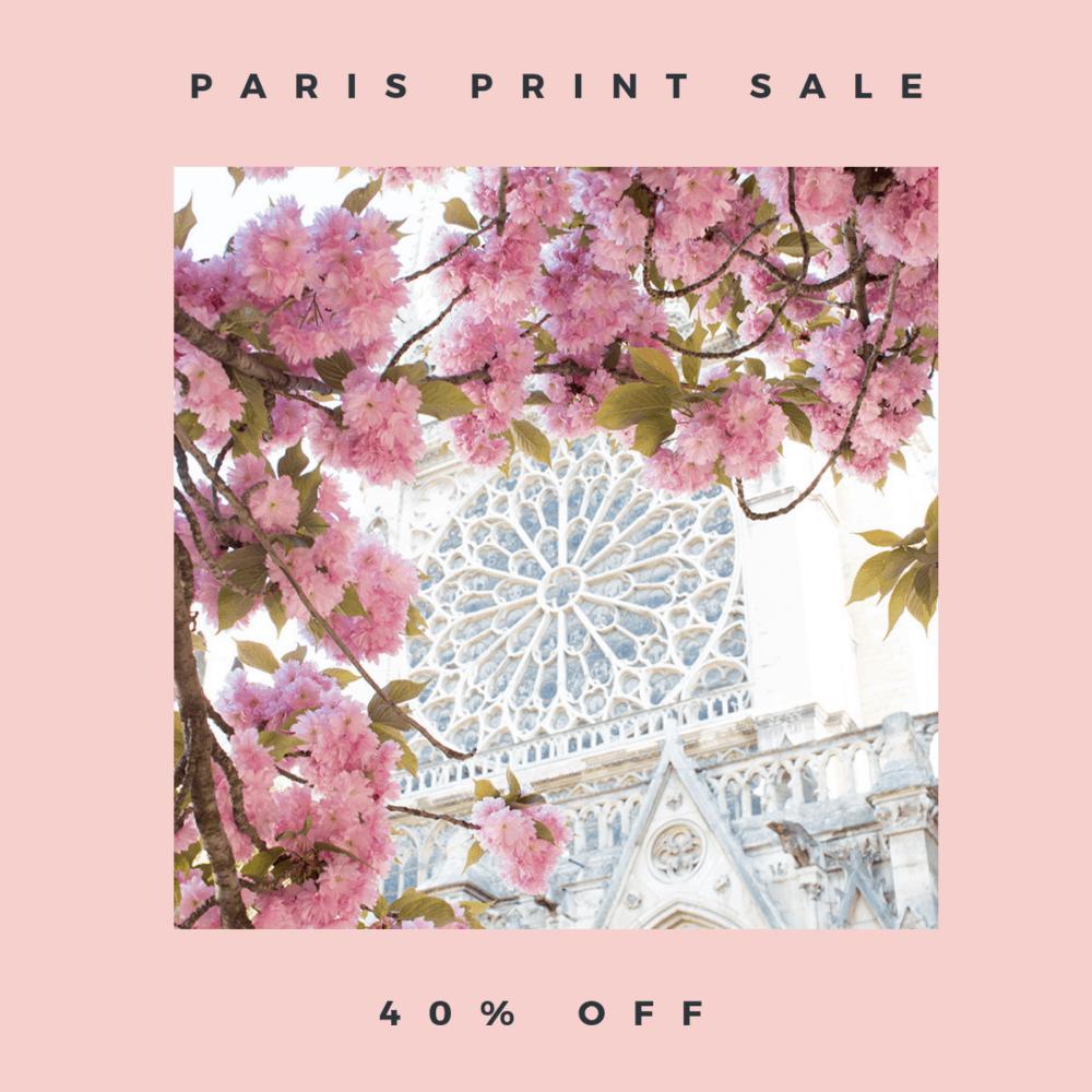 print sale 40% off