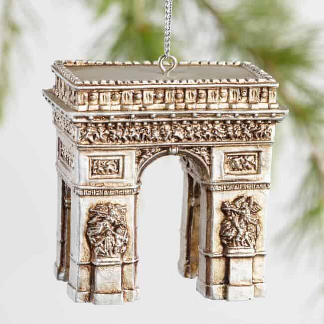 arc de triumph paris inspired ornaments for christmas