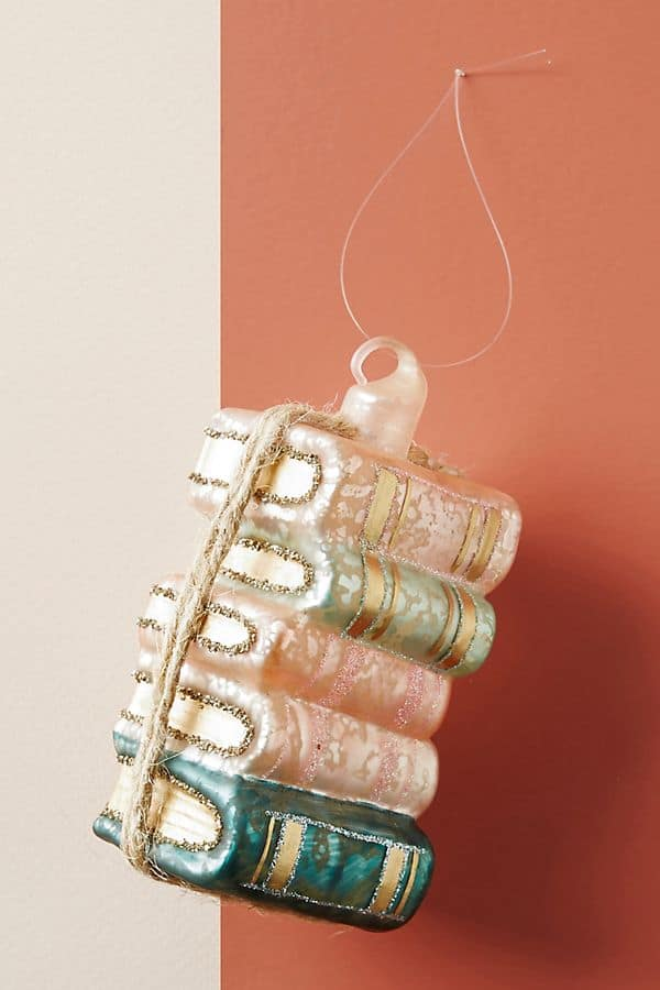 book stack ornament christmas paris inspired everyday parisian