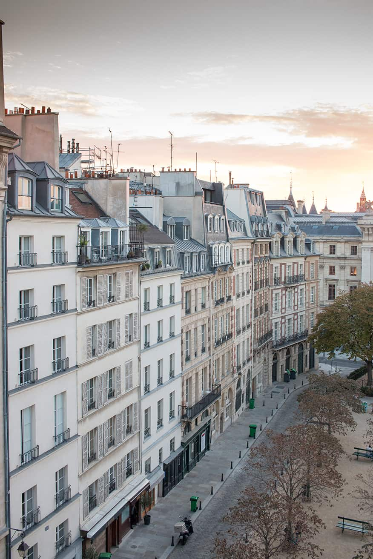 the paris diaries everyday parisian place dauphine sunrise photo